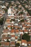 房子屋顶在São保罗,巴西 免版税库存图片