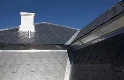 房子屋顶板岩 库存图片
