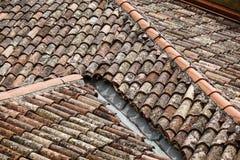 房子屋顶的顶视图  库存照片