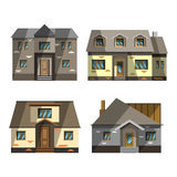 房子屏蔽集 库存例证