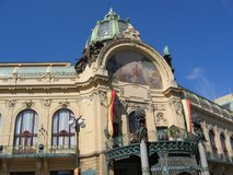 房子市政布拉格顶层 库存图片