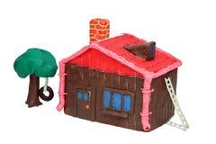 房子彩色塑泥 免版税库存图片
