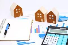 房子微型模型图文件的 免版税图库摄影