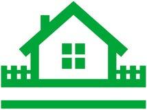 房子徽标小的向量 库存例证