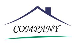 房子徽标符号 向量例证