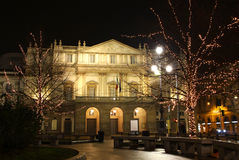 房子意大利la米兰歌剧scala 图库摄影
