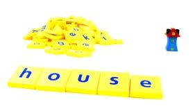房子拼字游戏 库存照片