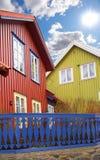 房子挪威城镇 免版税图库摄影