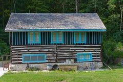 房子日志斯堪的纳维亚人 库存图片