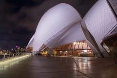 房子晚上歌剧悉尼 库存图片