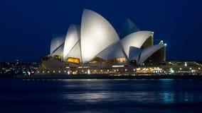 房子晚上歌剧悉尼 库存照片