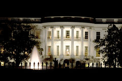 房子晚上白色 免版税图库摄影