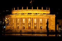 房子晚上老歌剧斯图加特 库存照片