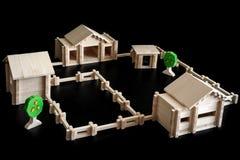 房子木的一点 免版税库存图片