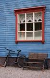 房子木的冰岛 库存照片