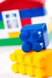 房子查出的玩具白色 库存图片