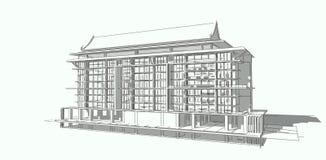 房子查出的白色 实际概念的庄园 3d 免版税库存照片