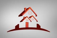 房子概述a的综合图象 库存图片