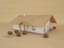 房子模型纸张 免版税库存图片