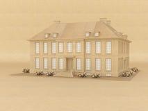 房子模型维多利亚女王时代的著名人物 免版税库存图片