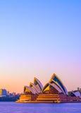 房子歌剧日出悉尼 库存图片