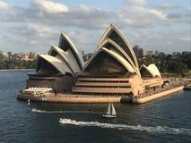 房子歌剧日落悉尼 免版税图库摄影