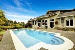 房子池游泳 房地产用联邦方式, 免版税库存图片