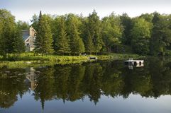 房子湖夏天 库存图片