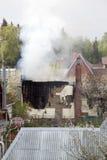 房子火的火焰 免版税库存照片