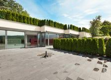 房子现代室外 图库摄影