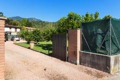 房子的入口门 库存照片