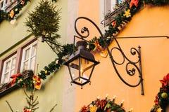 房子的圣诞节装饰 新年` s装饰 库存照片