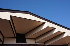 房子的屋顶设计在Chacheongsao 免版税库存图片