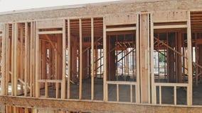 房子的新建工程构筑了房屋建设的新建工程地面  股票视频