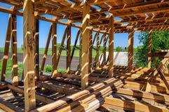 房子的新建工程 免版税库存照片
