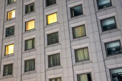 房子的方形的窗口 免版税图库摄影