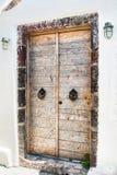 房子的木门 免版税库存图片