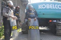 房子的爆破土地的拥有了PT KAI在三宝垄 免版税图库摄影