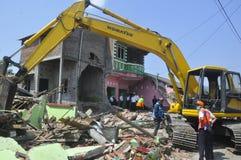 房子的爆破土地的拥有了PT KAI在三宝垄 免版税库存图片