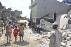 房子的爆破土地的拥有了PT KAI在三宝垄 库存图片