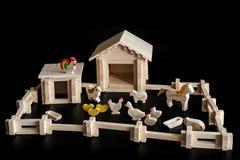 房子的玩具模型 库存图片