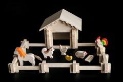 房子的玩具模型 图库摄影