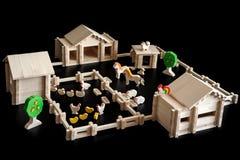 房子的玩具模型 免版税库存照片