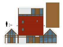 房子的纸模型 库存图片