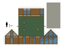 房子的纸模型 免版税库存照片
