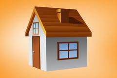 房子的综合图象 免版税库存图片
