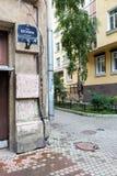 房子的角落在Blokhin街道15上的运作作为锅炉室 图库摄影