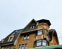 房子的顶层 免版税库存图片