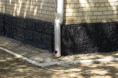 房子的resinized基地 防护湿气沥青乳香树脂 免版税图库摄影