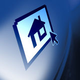 房子监控程序 免版税库存照片